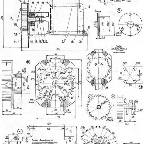 Домашняя мельница.Самодельная мельница чертежи устройства.