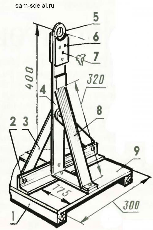 Ручной шиномонтажный станок чертежи