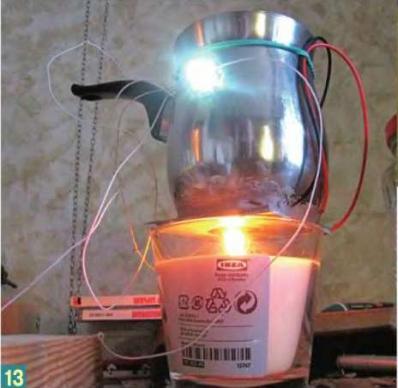 Электричество от свечки