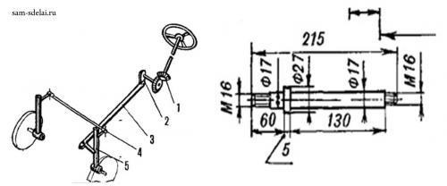 Микротрактор САП для траснспортных целей