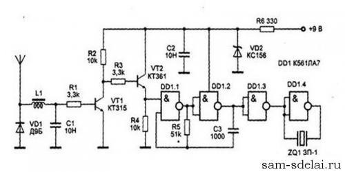 Простейший детектор радиоволн