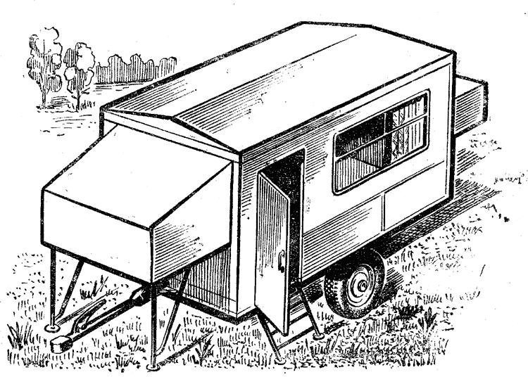 Прицеп для дома на колесах своими руками