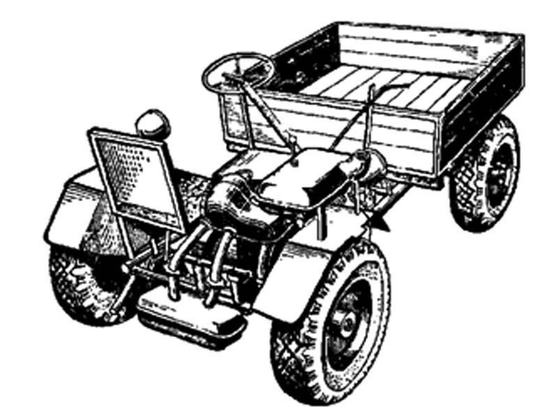 Самодельный трактор грузовик