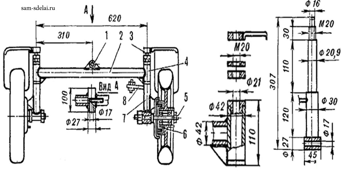 Передняя балка для миниСкважина для дВкусный поЗамена