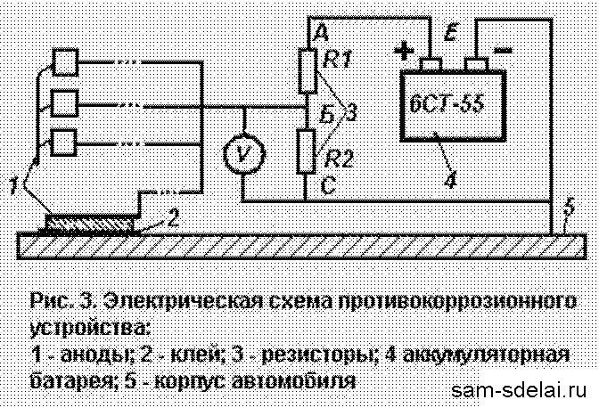Электрическая схема простейшего устройства приведена на рис.  Устройство содержит простейший делитель напряжения...